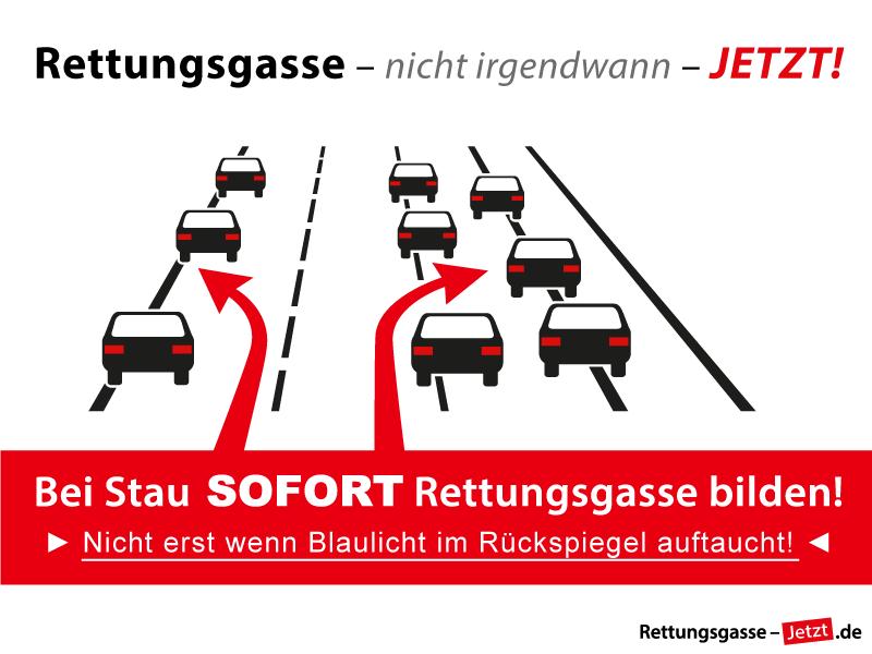 Rettungsgasse bilden - www.rettungsgasse-jetzt.de